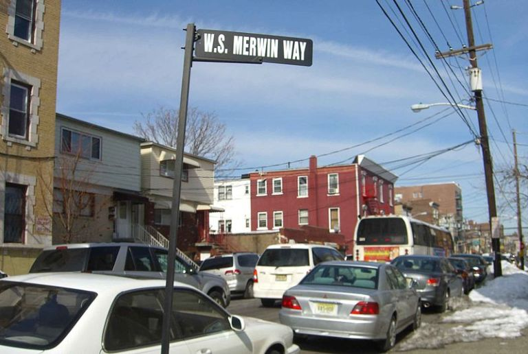 W.S. Merwin Way in Union City, N.J., where the poet grew up
