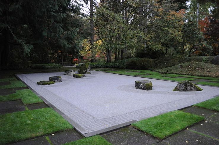 Bloedel Reserve Zen Garden on Bainbridge Island where Theodore Roethke drowned in 1963
