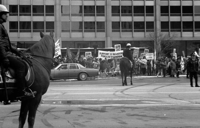 Protest Against U.S. Involvement in the Salvadoran Civil War, Chicago, 1989